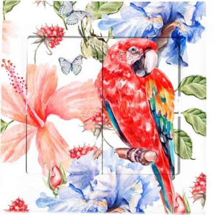 Włącznik schodowy Sigma Podwójny Czerwona papuga