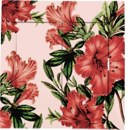 Włącznik schodowy Sigma Podwójny Czerwone kwiaty