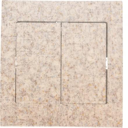 Włącznik schodowy Sigma Podwójny Granit wzór 8