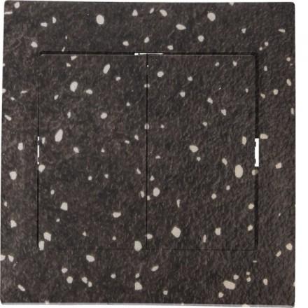 Włącznik schodowy Sigma Podwójny Granit wzór 9