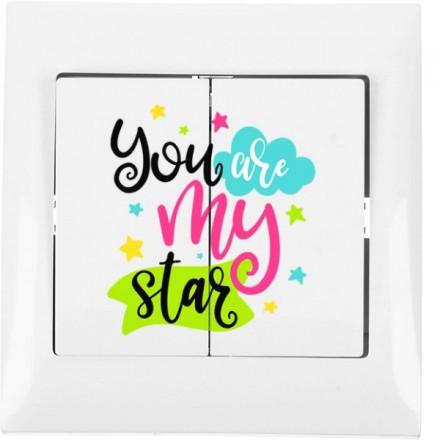 Włącznik schodowy Sigma Podwójny You are my star