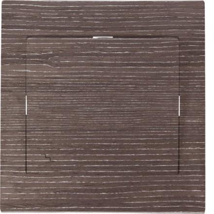 Włącznik schodowy Sigma Pojedynczy Ciemne drewno