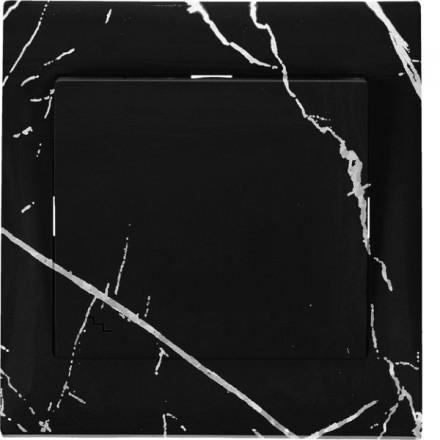Włącznik schodowy Sigma Pojedynczy Czarny marmur