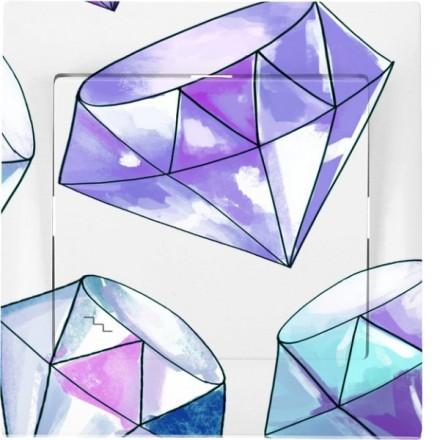 Włącznik schodowy Sigma Pojedynczy Fioletowy diamenty
