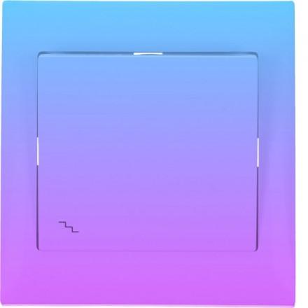 Włącznik schodowy Sigma Pojedynczy Fioletowy gradient