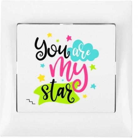 Włącznik schodowy Sigma Pojedynczy You are my star