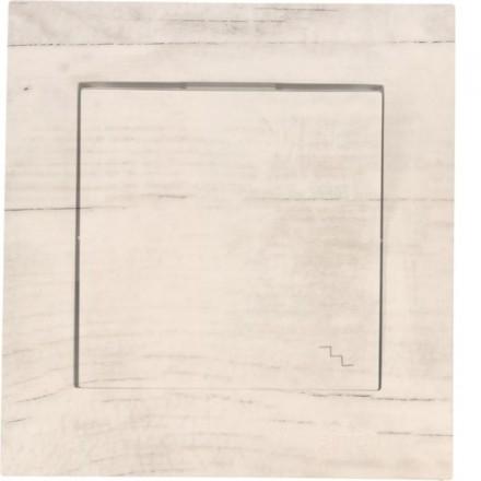 Włącznik schodowy Simon 54 Pojedynczy Białe drewno