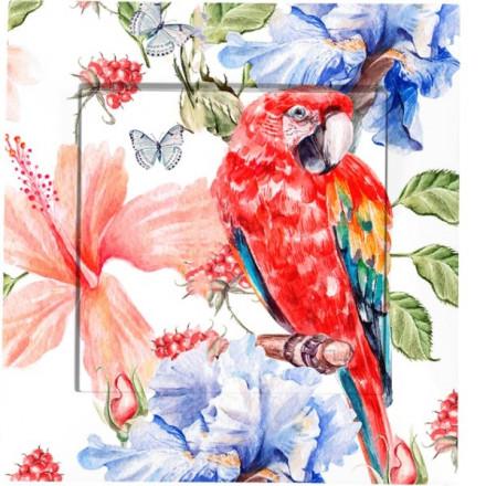 Włącznik schodowy Simon 54 Pojedynczy Czerwona papuga