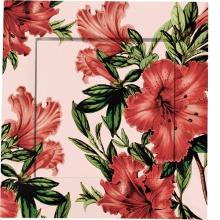Włącznik schodowy Simon 54 Pojedynczy Czerwone kwiaty