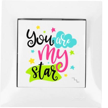 Włącznik schodowy Simon 54 Pojedynczy You are my star