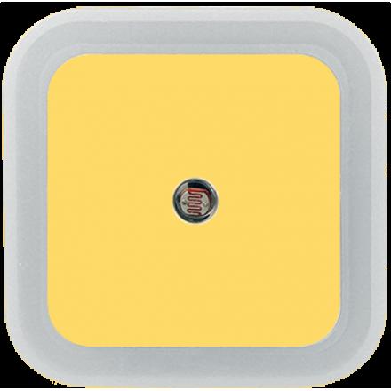 919b78254bf415 NOCNA LAMPKA DO KONTAKTU LED CZUJNIK ZMIERZCHU Pastelowy żółty