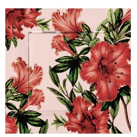 PRZYCISK DZWONKA SIMON 10 Czerwone kwiaty