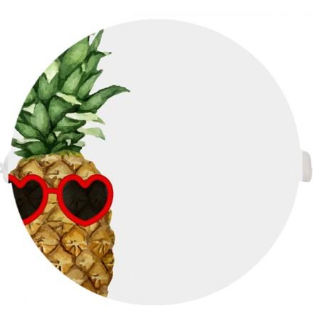 POKRYWA ZAŚLEPKA PUSZKI 90 MM Ananas w okularach