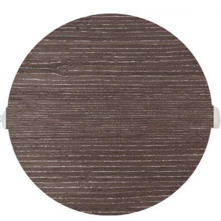 POKRYWA ZAŚLEPKA PUSZKI 90 MM Ciemne drewno