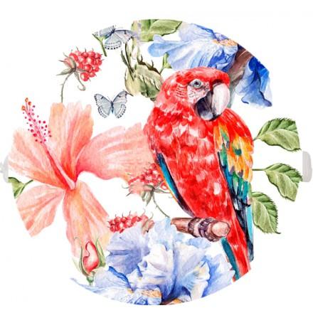 POKRYWA ZAŚLEPKA PUSZKI 90 MM Czerwona papuga