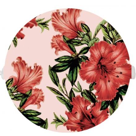 POKRYWA ZAŚLEPKA PUSZKI 90 MM Czerwone kwiaty