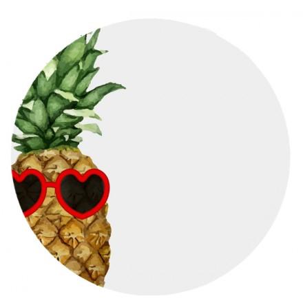 POKRYWA ZAŚLEPKA PUSZKI 70 MM Ananas w okularach