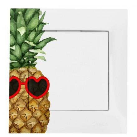 WŁĄCZNIK KRZYŻOWY POJEDYNCZY SIGMA Ananas w okularach
