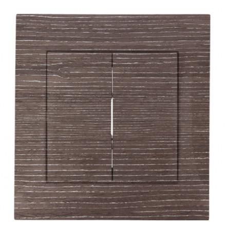 WŁĄCZNIK SCHODOWY PODWÓJNY SIMON BASIC Ciemne drewno