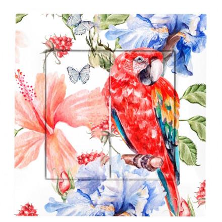 WŁĄCZNIK SCHODOWY PODWÓJNY SIMON BASIC Czerwona papuga