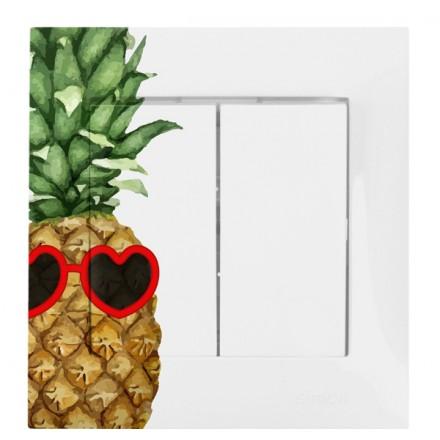WŁĄCZNIK SCHODOWY PODWÓJNY SIMON 54 Ananas w okularach