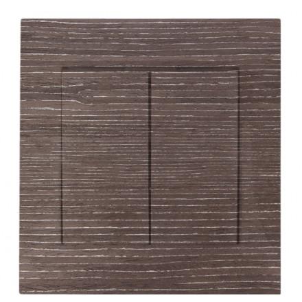 WŁĄCZNIK SCHODOWY PODWÓJNY SIMON 54 Ciemne drewno