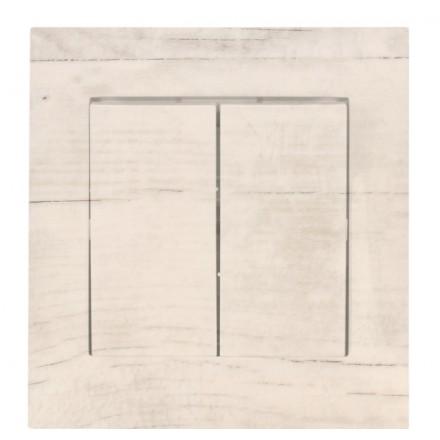 WŁĄCZNIK SCHODOWY PODWÓJNY SIMON 54 Białe drewno