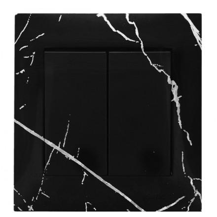WŁĄCZNIK SCHODOWY PODWÓJNY SIMON 54 Czarny marmur